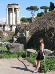 Me infront of the Vesta Temple in Rome earlier this year © Silvia Ivanova